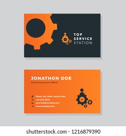 Automobile Repair Business, Home Repair Business, House Refurnish business , Re-construction Company Business card design