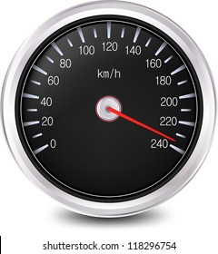 Automobile speedometer. Vector illustration
