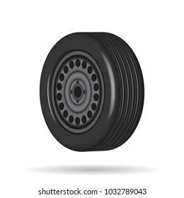 automobile tire, iron wheel