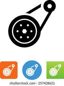Automotive  belt icon