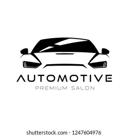 Automotive car front outline sign for your projects