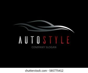 Auto Style Car Logo Design Concept Stock Vector Royalty Free