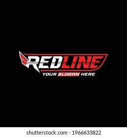 Automotive car logo.Redline logo type, design Symbol.