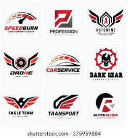 Automotive Car Services Logo Set