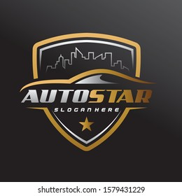 Automotive, City Car, Car Service, Car Showroom, Car Repair and Speed Automotive Logo Vector Illustration