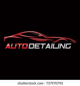 Automotive collision logo, Auto Detailing Logo