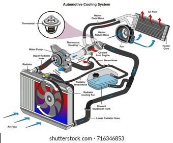 Car Cooling System >> Automotive Cooling System Stock Illustrations Images