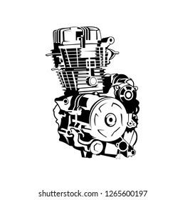 automotive engine vector