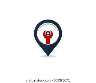 Automotive Local Auto Service Logo Design Template