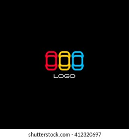 Automotive logo template. Auto race abstract icon, game graphic. Colorful vector illustration. Car logotype.