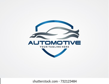 Automotive Logo Template Design. Creative Vector Emblem for Icon or Design Concept