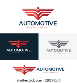 Automotive logo,wing logo,bird,eagle,vector logo template