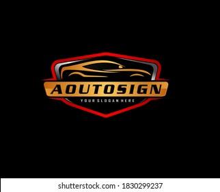 automotive modification and service .Auto detailing logo concept
