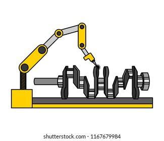 automotive part camshaft with robotic arm design image