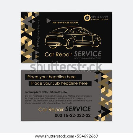 Automotive service business card template car stock vector royalty automotive service business card template car diagnostics and transport repair create your own business accmission Images