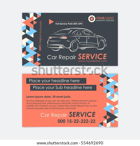 Automotive service business card template car stock vector royalty automotive service business card template car diagnostics and transport repair create your own business accmission Choice Image