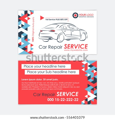 Automotive service business card template car stock vector royalty automotive service business card template car diagnostics and transport repair create your own business fbccfo Image collections