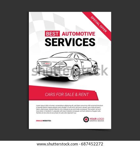 Car For Sale Template | Automotive Services Layout Template Cars Sale Stock Vektorgrafik