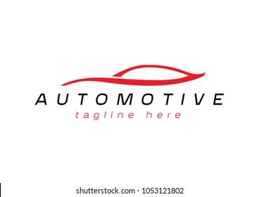 Automotive sign, elegant car outline