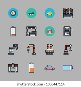 automotive vector icon set