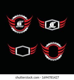 automotive vehicle logo design vector