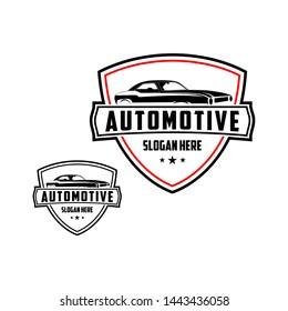 Automotive vehicle logo vector illustration