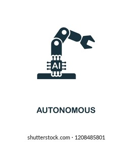 Autonomous icon. Premium style design from artificial intelligence collection. UX and UI. Pixel perfect autonomous icon. For web design, apps, software, printing usage.