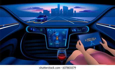 Swell Future Car Interior Safety Stock Illustrations Images Interior Design Ideas Tzicisoteloinfo