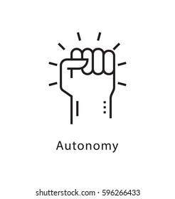Autonomy Vector Line Icon