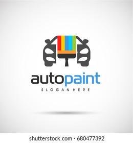 Autopaint Logo template. Vector Illustration eps.10