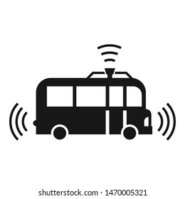 Autopilot bus icon. Simple illustration of autopilot bus vector icon for web design isolated on white background