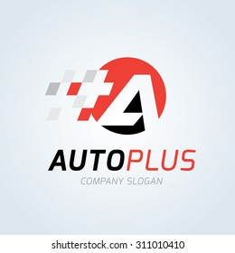 Autoplus, Automotive car automotive logo template