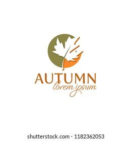 autum logo, vector illustration