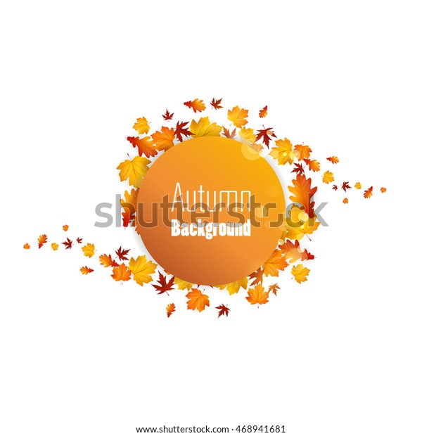 Autumn Abstract Floral Background Circle Colorful Stock