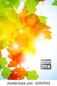 autumn background, eps10