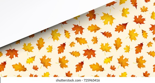 seamless pattern bright colorful autumn leaves stock vector royalty