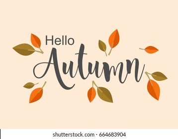 Autumn background illustration design vector