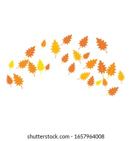 autumn background logo template illustration