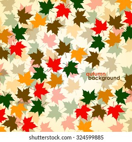 Autumn background of maple leaves. Colorful vector image. Eps 10