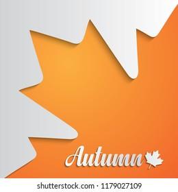 Autumn background. Paper art style. Vector illustration