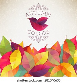 Autumn background. Vector illustration