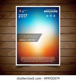 Autumn Blur Brochure Design Template