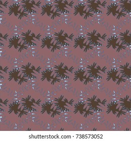 Autumn colored seamless pattern with leaves for texture or background.