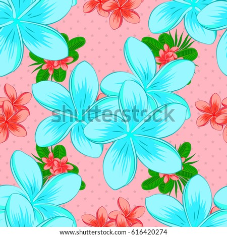 Autumn colors silk scarf plumeria flowers stock vector royalty free silk scarf with plumeria flowers on a pink background retro textile design mightylinksfo