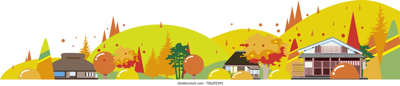 Autumn of countryside