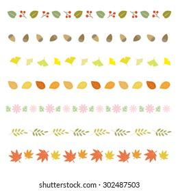autumn decorative borders / Vector EPS 10 illustration