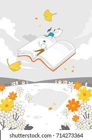Autumn drawing illustration