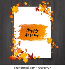 Autumn Flyer Design With Hand Written Design