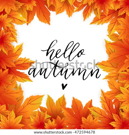 autumn flyer template lettering bright fall stock vector royalty