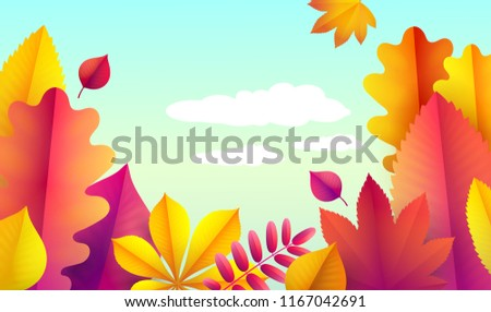 autumn flyer template your text vector stock vector royalty free